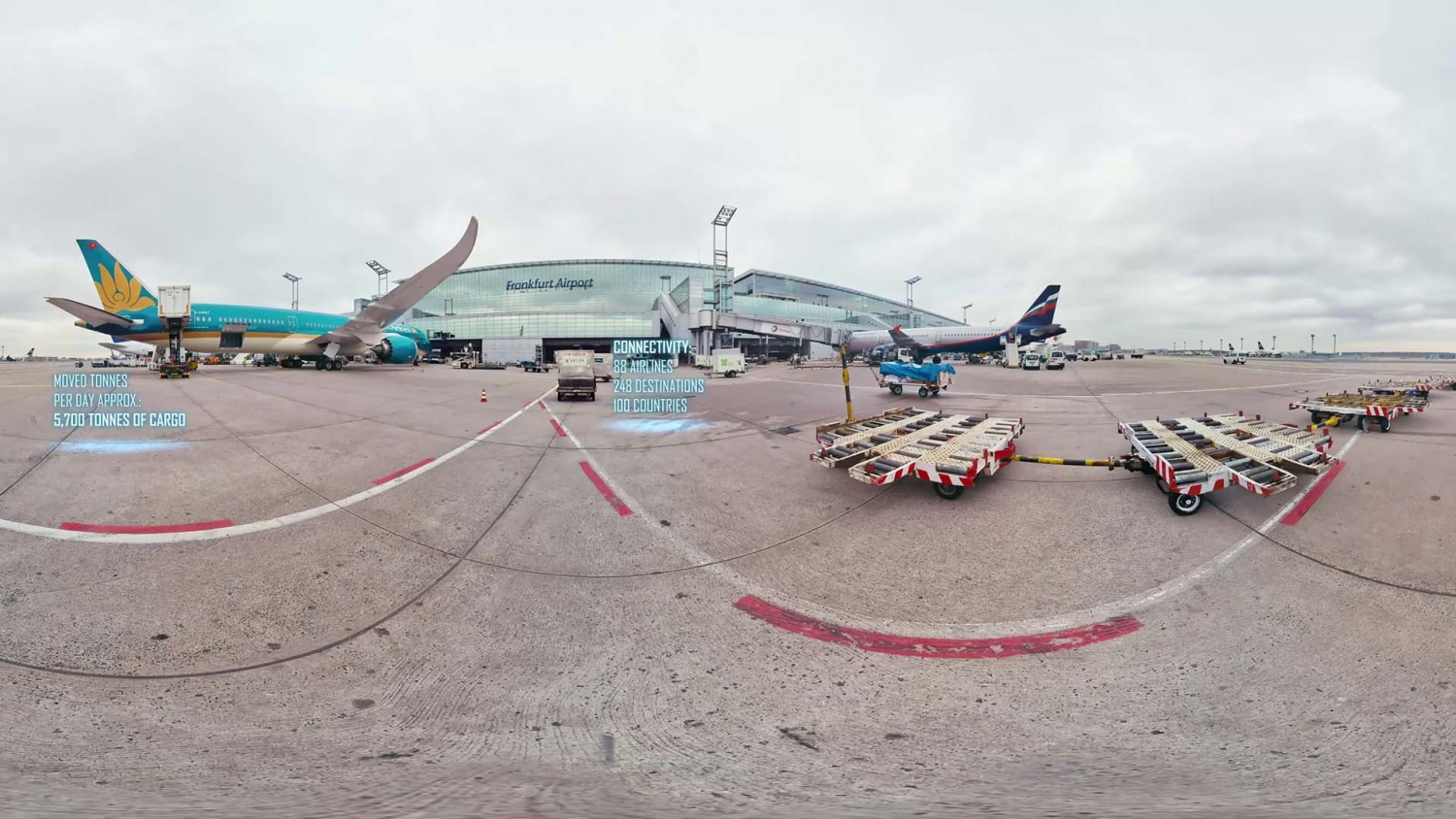 360 Grad Video Frankfurt Fraport