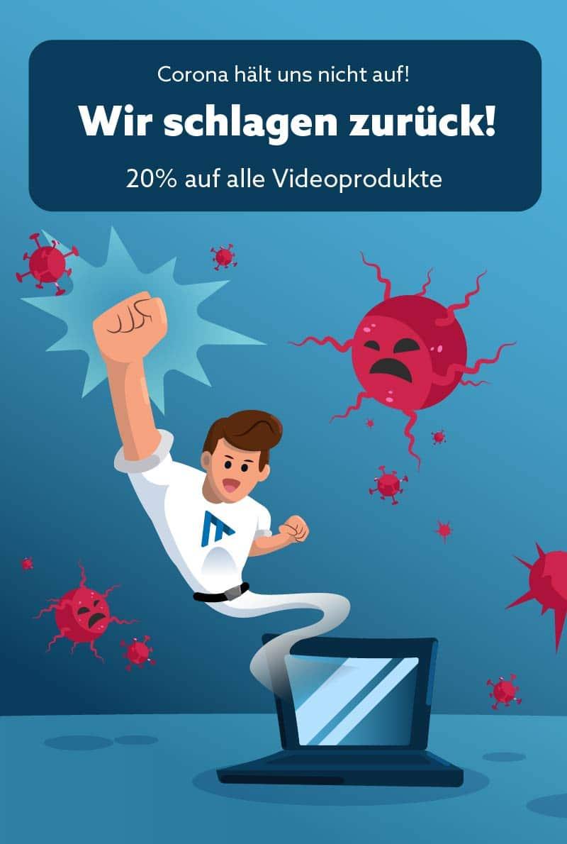 20% Rabatt auf alle Videoprodukte von muthmedia